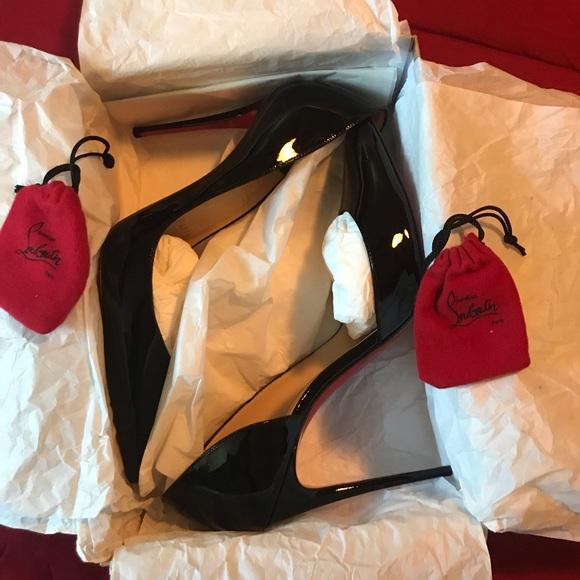 ea2291de5cb Christian Louboutin Shoes - Christian Louboutin Iriza 100 patent Black size  42